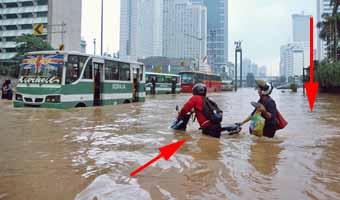 karena bike to work terhindar dari banjir