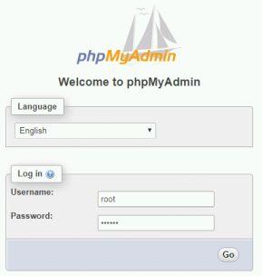 konfigurasi XAMPP di Fedora, PHPMyAdmin diberi otentifikasi.
